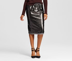 Who What Wear Women's Sequin Pencil Skirt, Grey