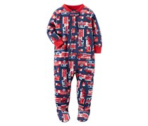 Carter's Baby Boys Long Sleeve One Piece Pajama, Navy Combo
