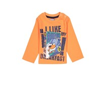 Boboli Toddler Boy's Long Sleeve Shirt, Orange
