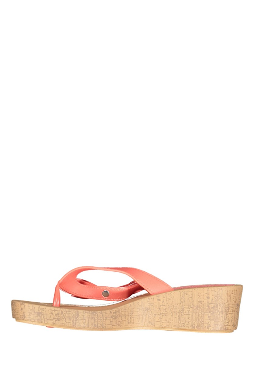 Women's Wedge Sandals, Coral