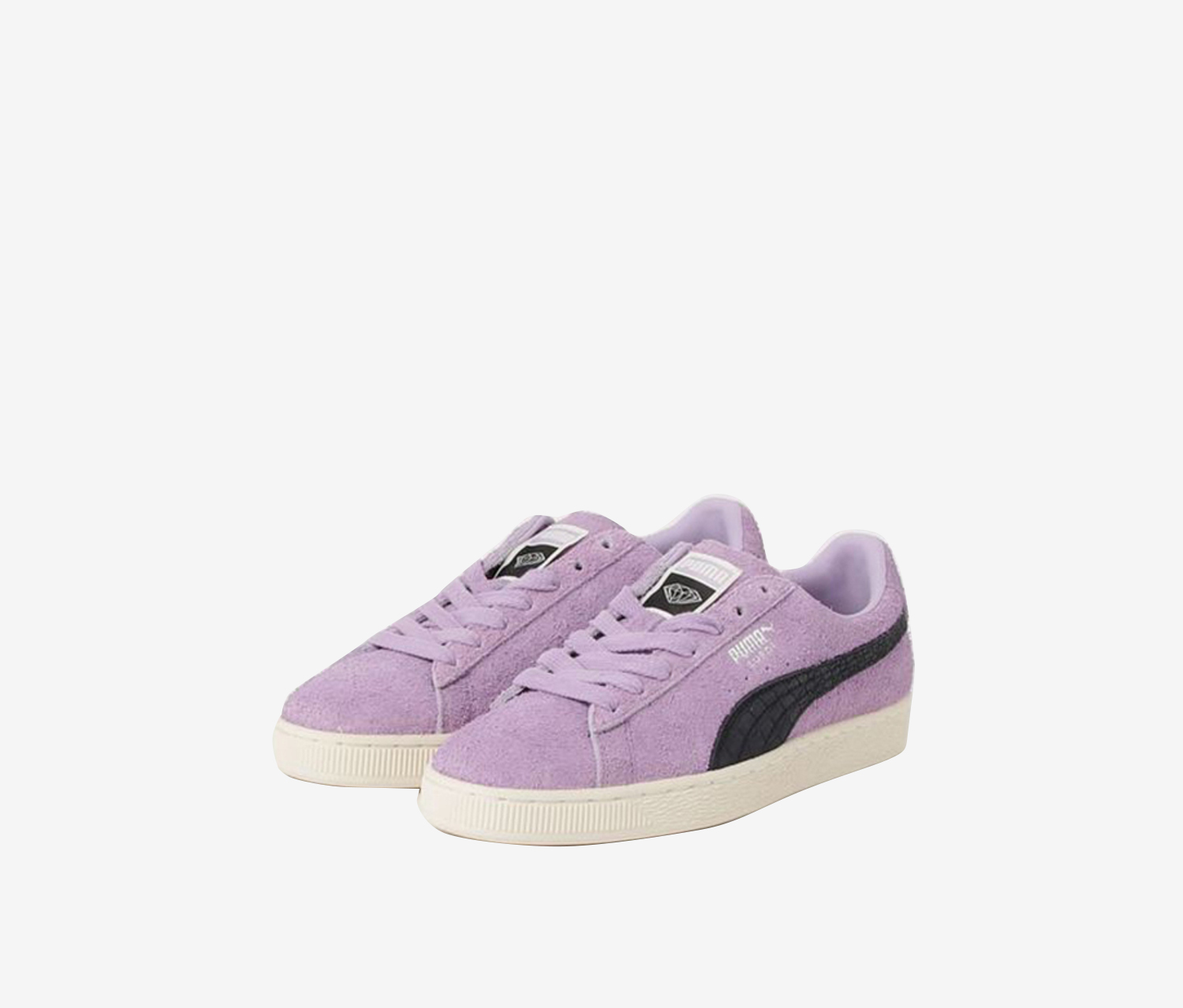 Puma Big Girl's Suede Diamond Sneakers, Light Purple