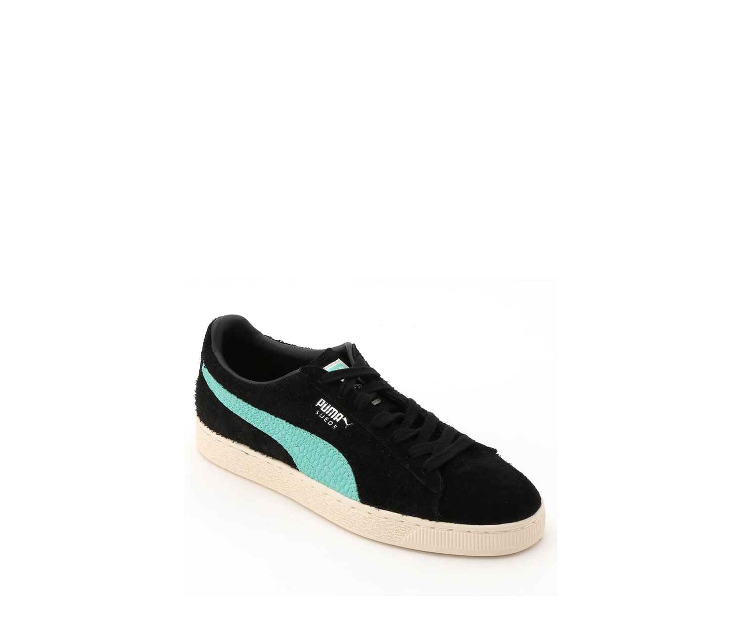 Puma Big Girl's Suede Diamond Sneakers, Black