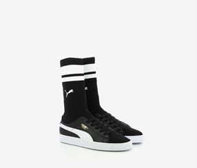 Puma Women's Basket Sock Evoknit Sneakers, Black