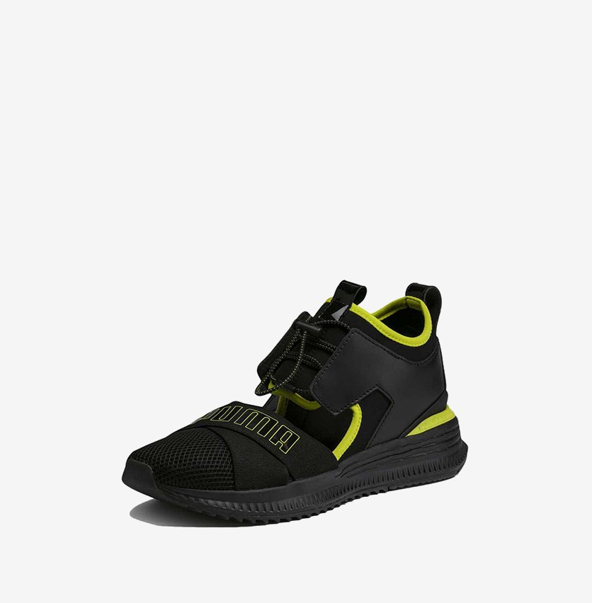 Select Fenty Avid Sneakers, Black/Lime