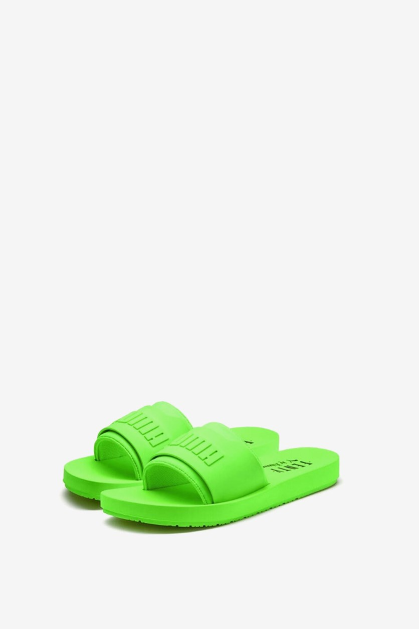 Women's Fenty Surf Slide, Green Gecko