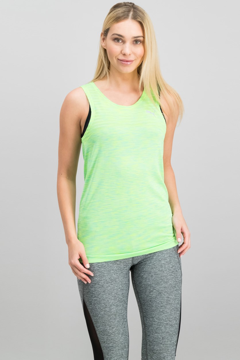 Women's Sleeveless Evoknit Tank, Lime Green