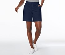 Karen Scott Pull-On Drawstring Shorts, Intrepid Blue