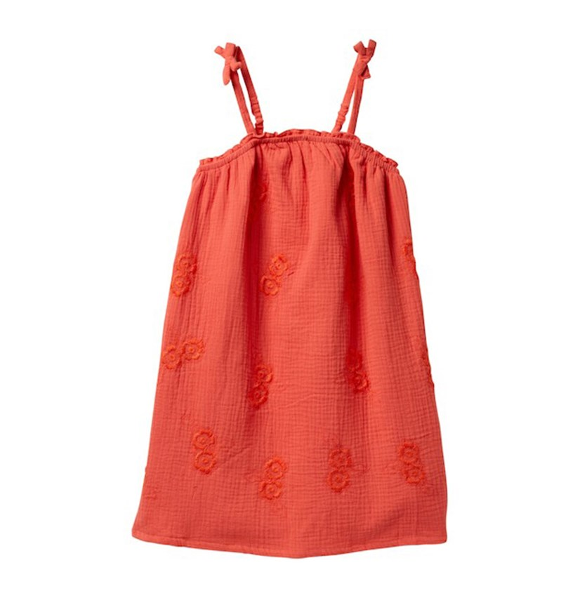 Girls Ella Dress, Coral