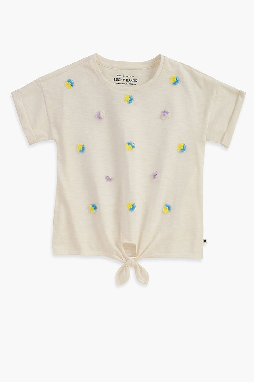 Girls Tara Tee, Whisper White