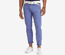 Ralph Lauren Stretch Straight-Fit Chino Pants, Blue