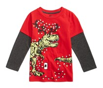 Epic Threads Toddler's Dino Light Graphic-Print Shirt Gumball, Red
