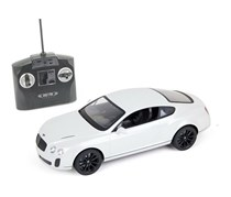 MZ Toys Bentley Continental Gt Speed Remote Control Car, White