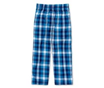 Max Olivia  Little Boys Plaid Sleep Pants, Medium Blue