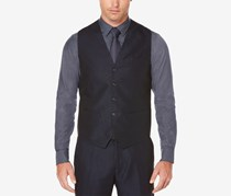 Perry Ellis Men's Twill Vest, Navy