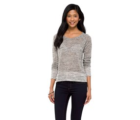 Mossimo Supply Co. High Low Knit Top, Gray