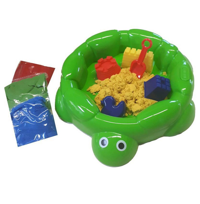Magic Sand Turtle Sandbox, Green