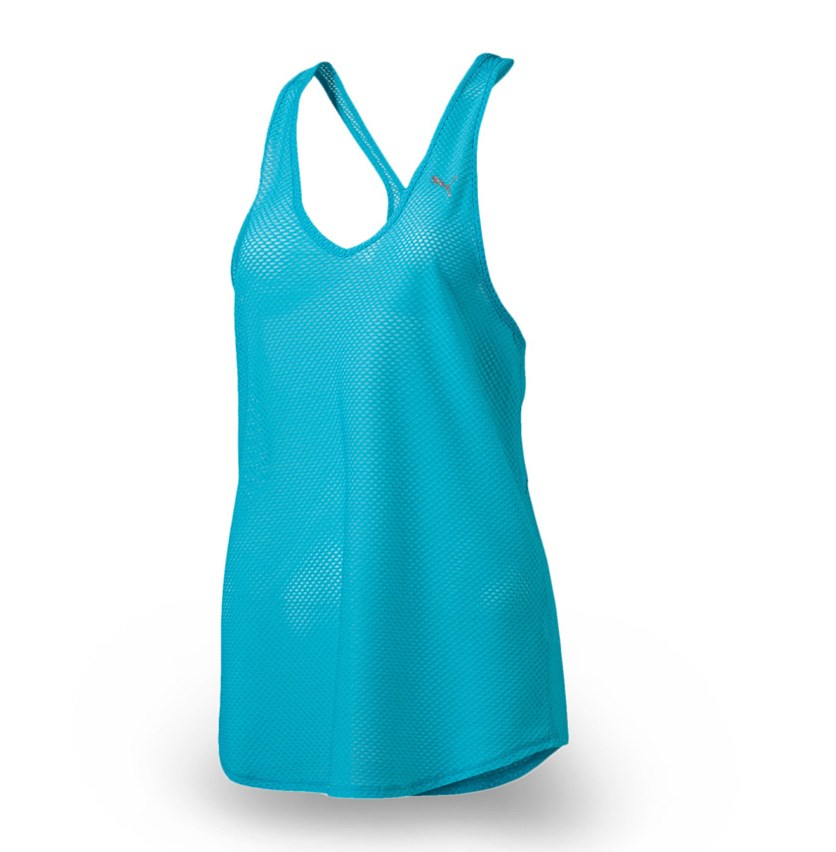 Women's Training Series Mesh Sports Tank, Sky Blue