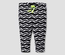 Cat & Jack Girls Leggings, Black/White