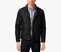 Cole Haan Mens Packable Trucker Raincoat, Black
