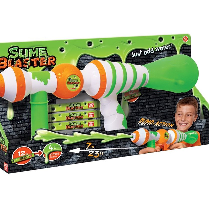 Slime Blaster Gun, Green/White/Orange