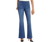 Style & co Women's Flare-Leg Pull-On Jeans, Blue