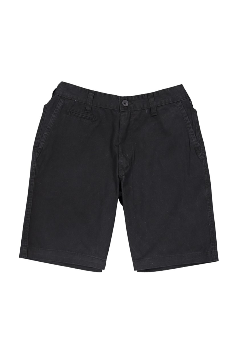 Men's Twill Classic Fit Shorts, Black