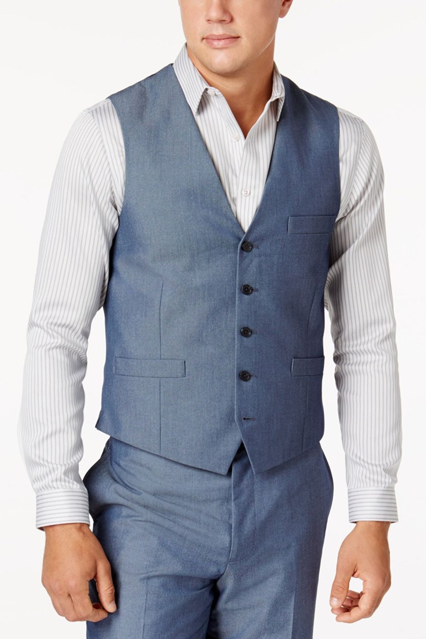 Men's Classic-Fit Suit Vest, Blue