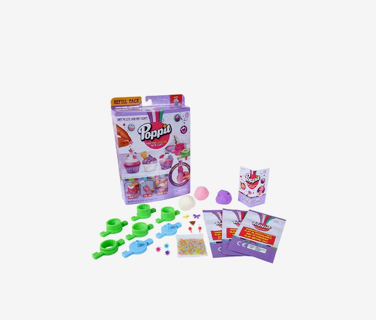 Mini Cupcakes Refill Pack, Green/Purple