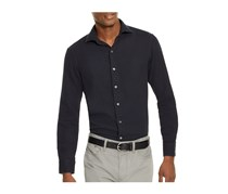 Men Estate Slim Fit Button Down Shirt, Black