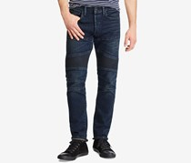 Polo Ralph Lauren Men's Stretch Moto Jeans, Indigo Wash