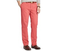 Men Classic Fit Cotton Chino Pants, Desert Red