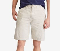 Mens Relaxed Fit Twill Shorts, Beige