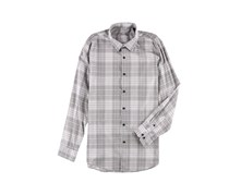 Tasso Elba Mens Plaid Hanging Button Up Shirt, Grey Combo