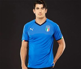Puma Men's Italia FIGC Home Shirt Replica Shirt, Blue