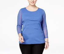 Alfani Women's Plus Size Tiered Top, Blue