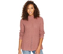 Lucky Brand Open-Knit Crew-Neck Sweater, Dusty Pink