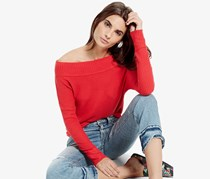 Lucky Brand Waffle Thermal Top, Red