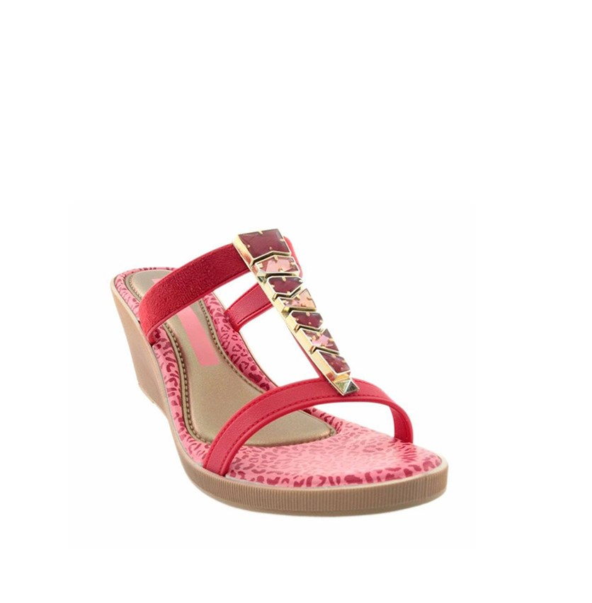 Women's Jewel II Wedges Sandals, Red/Pink
