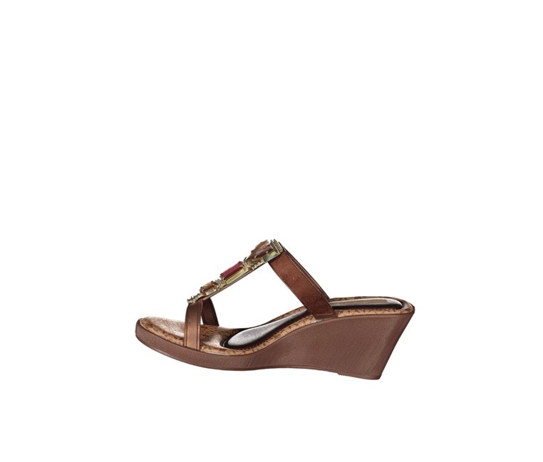 Women's Jewel Wedge Sandals, Brown/Bronze