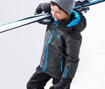 Boy's Ski Jacket, Grey/Blue
