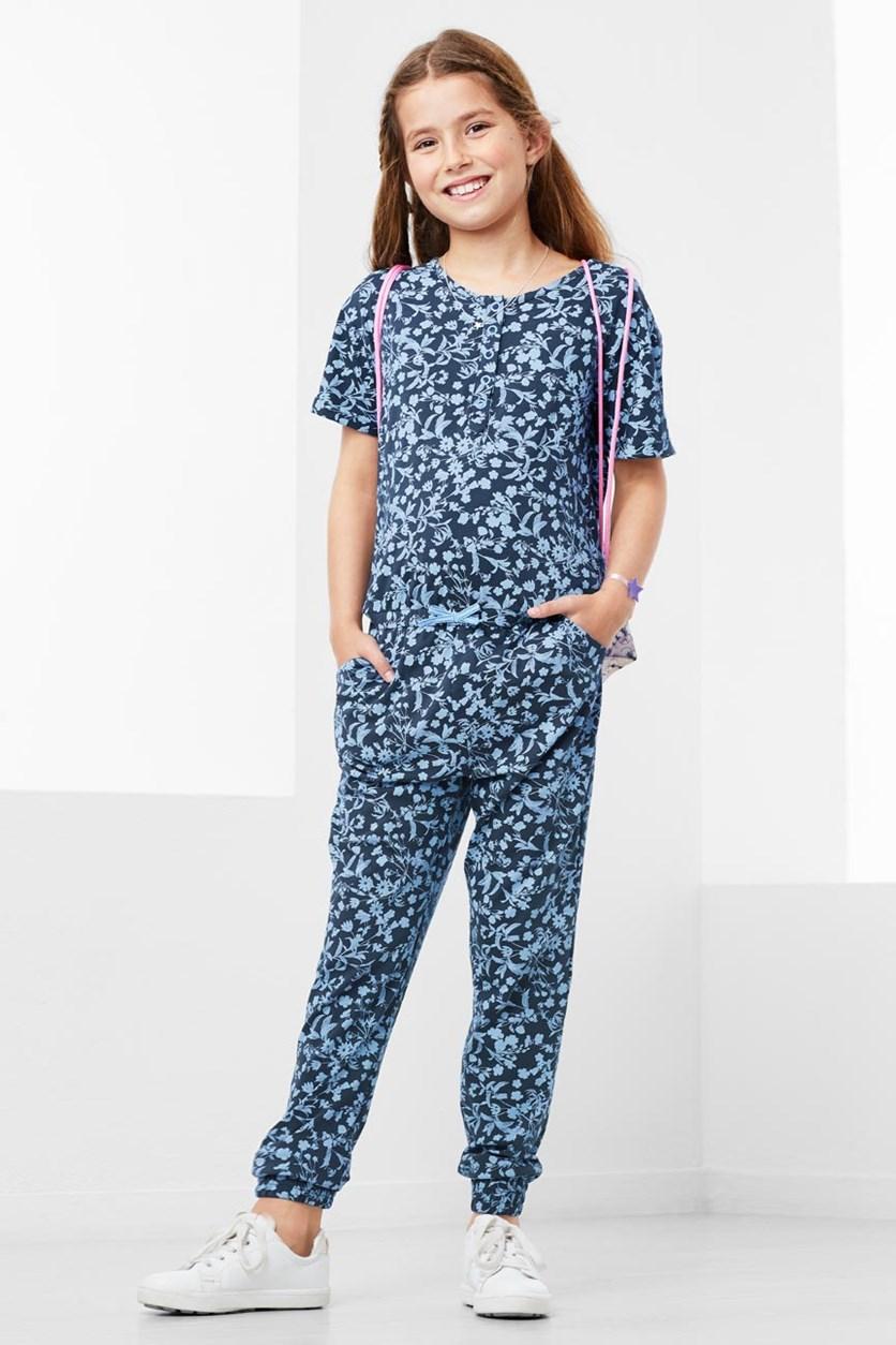 Girls Jumpsuit, Blue