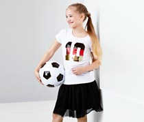 Girls Sequin T-Shirt, White