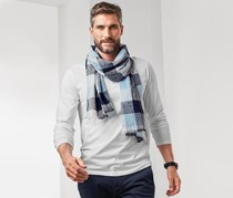 Men's Scarf, Blue/Grey