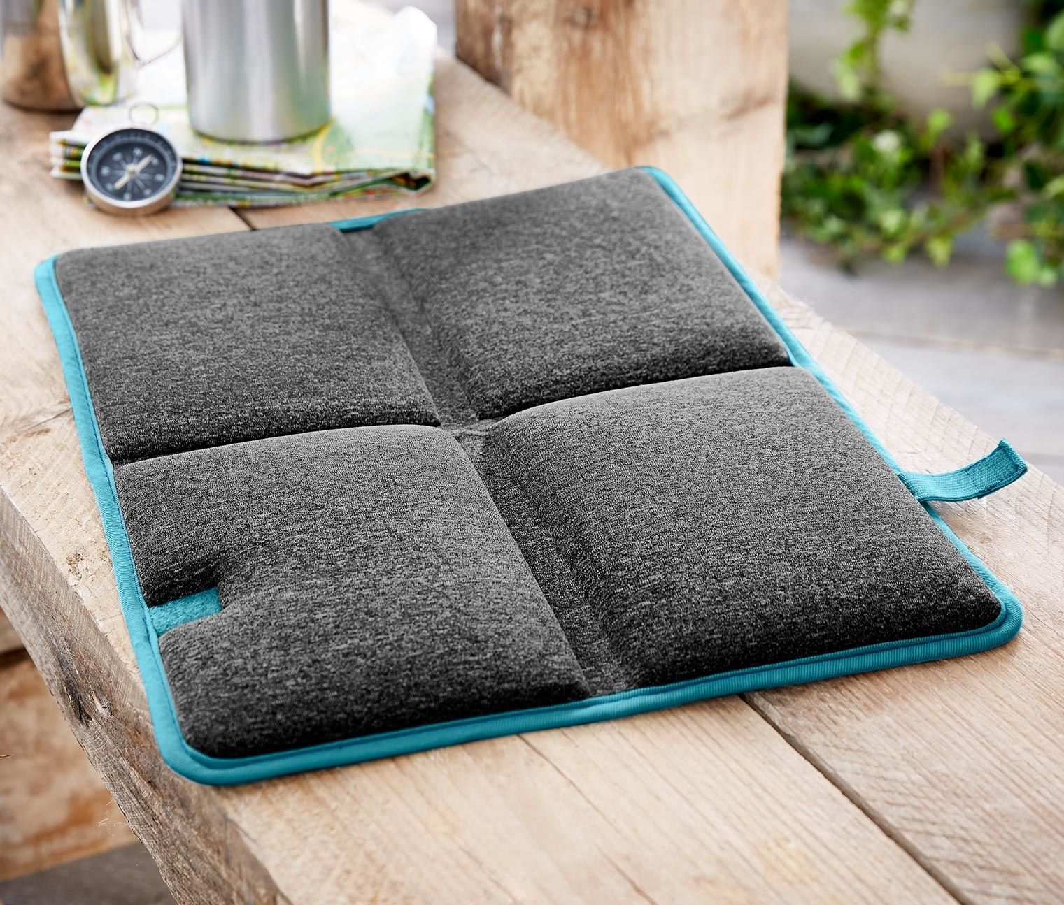 Seat Cushion Foldable, Blue/Dark Grey
