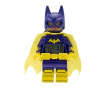 Lego Batman Movie Batgirl Kids Minifigure Alarm Clock, Purple/Yellow