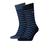 Puma Men's Classic Striped Socks, Blue/Navy