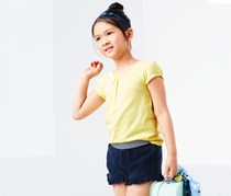 Girls Jersey Short, Blue