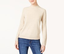Women Mock-neck Sweater, Oatmeal Heather