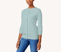 Karen Scott Women Petite Cardigan, Blue Moon