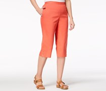 Alfred Dunner Women's Sun City Pull-On Capri Pants, Coral